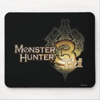 Logotipo del cazador del monstruo tri alfombrilla de ratones