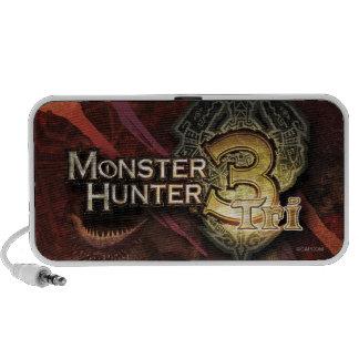 Logotipo del cazador del monstruo tri laptop altavoz