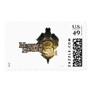 Logotipo del cazador del monstruo tri envio