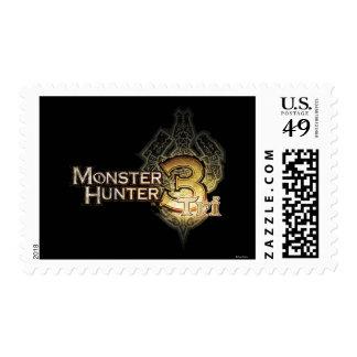 Logotipo del cazador del monstruo tri franqueo