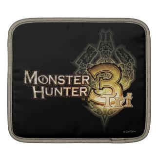 Logotipo del cazador del monstruo tri fundas para iPads