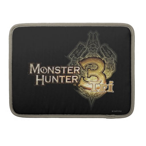 Logotipo del cazador del monstruo tri fundas para macbooks