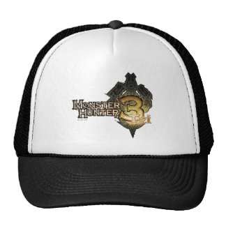 Logotipo del cazador del monstruo tri gorras de camionero
