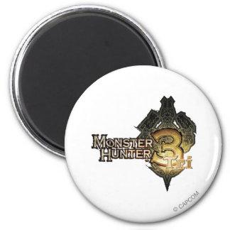 Logotipo del cazador del monstruo tri imanes de nevera