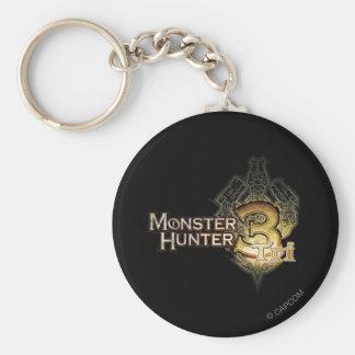 Logotipo del cazador del monstruo tri llavero