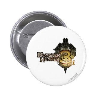 Logotipo del cazador del monstruo tri pin
