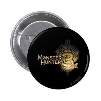 Logotipo del cazador del monstruo tri pin redondo de 2 pulgadas