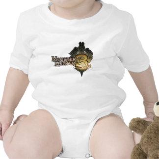 Logotipo del cazador del monstruo tri trajes de bebé