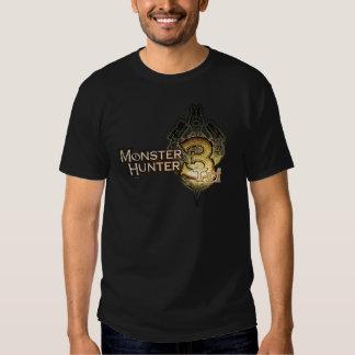 Logotipo del cazador del monstruo tri playeras