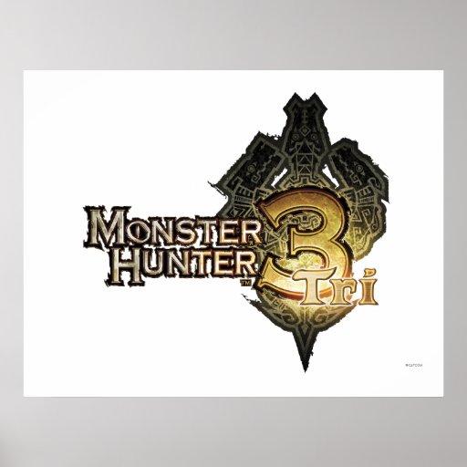 Logotipo del cazador del monstruo tri póster