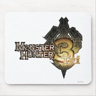 Logotipo del cazador del monstruo tri alfombrillas de ratones