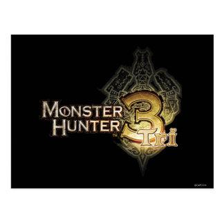 Logotipo del cazador del monstruo tri tarjeta postal