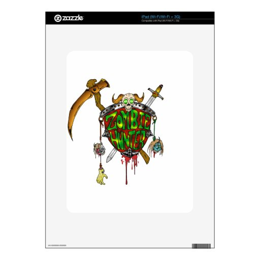 Logotipo del cazador del zombi calcomanía para iPad