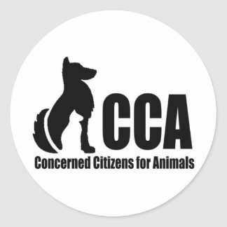 Logotipo del CCA Etiqueta Redonda