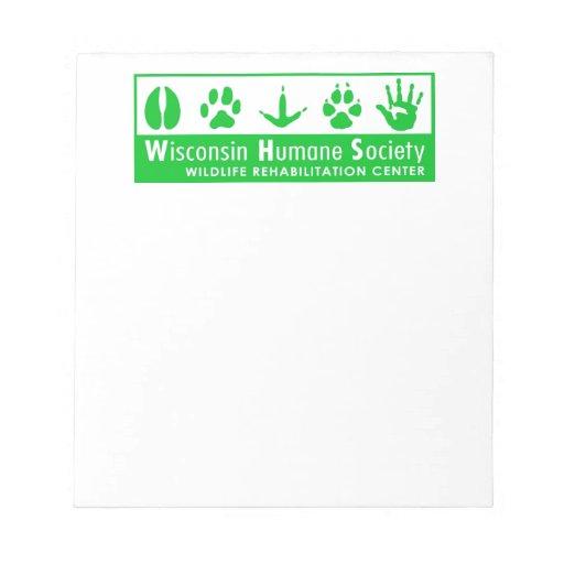 Logotipo del centro de rehabilitación de la fauna bloc de papel