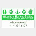 Logotipo del centro de rehabilitación de la fauna pegatina rectangular
