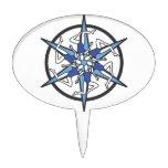 Logotipo del círculo de la natación sincronizada e palillos de tarta