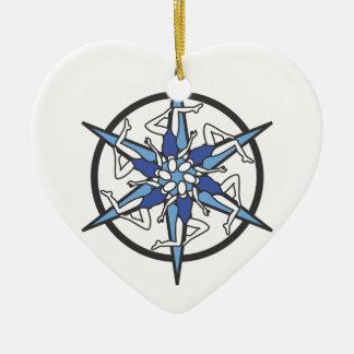 Logotipo del círculo de la natación sincronizada e adorno de navidad