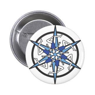Logotipo del círculo de la natación sincronizada e pin redondo de 2 pulgadas