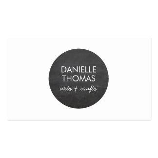 Logotipo del círculo de la pizarra para los artist tarjetas de visita