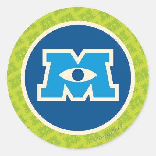 Logotipo del círculo de M Pegatinas Redondas