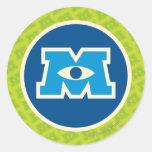 Logotipo del círculo de M Pegatina Redonda