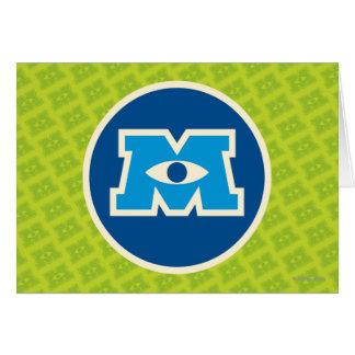 Logotipo del círculo de M Tarjeta De Felicitación