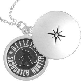 Logotipo del círculo del CAZADOR de Sasquatch Medallones