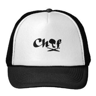 Logotipo del cocinero gorra
