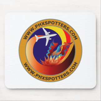 Logotipo del cojín de ratón de PHXSpotters Tapetes De Ratones