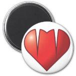 Logotipo del colmillo del corazón iman de frigorífico