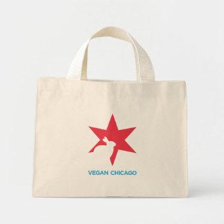 Logotipo del color de Chicago del vegano en bolso Bolsa Tela Pequeña