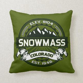 Logotipo del color de Snowmass Cojines