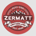Logotipo del color de Zermatt Etiqueta Redonda