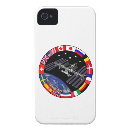 Logotipo del compuesto de los miembros del ISS iPhone 4 Case-Mate Cárcasa