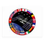 Logotipo del compuesto de los miembros del ISS Tarjetas Postales