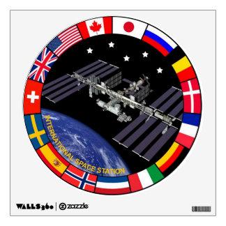 Logotipo del compuesto de los miembros del ISS Vinilo Adhesivo