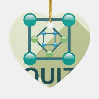 Logotipo del concurso adorno navideño de cerámica en forma de corazón