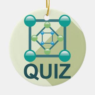 Logotipo del concurso adorno navideño redondo de cerámica
