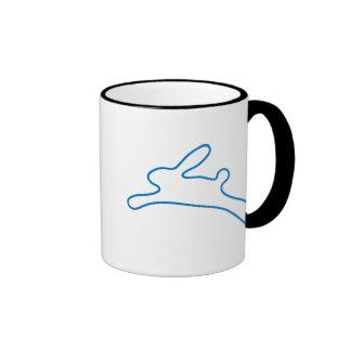 Logotipo del conejito del freenet taza de café