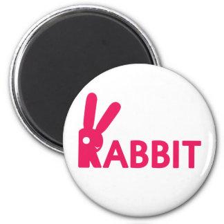Logotipo del conejo iman de frigorífico