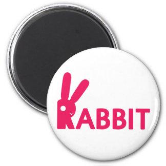 Logotipo del conejo iman para frigorífico