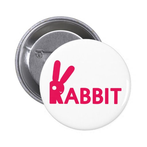 Logotipo del conejo pin redondo 5 cm