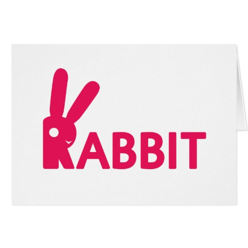 Logotipo del conejo tarjeta de felicitación