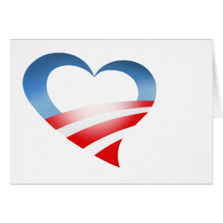 Logotipo del corazón de Obama Tarjeta De Felicitación
