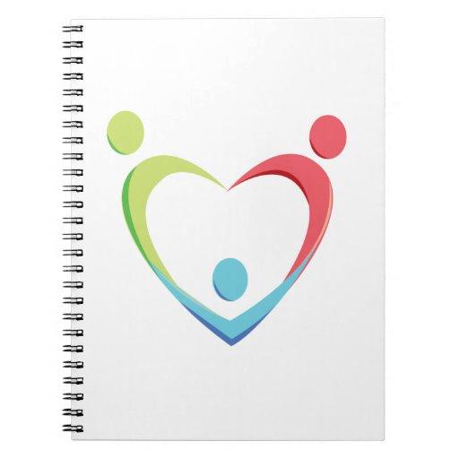 Logotipo del corazón de TBC Cuadernos