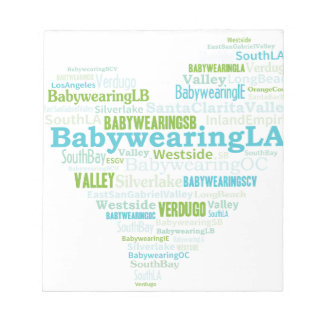 Logotipo del corazón del LA de Babywearing Bloc De Papel