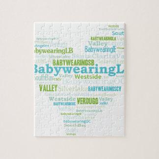 Logotipo del corazón del LA de Babywearing Rompecabezas Con Fotos