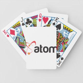 logotipo del corp del átomo barajas de cartas