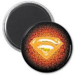 Logotipo del crujido del superhombre imán de frigorífico